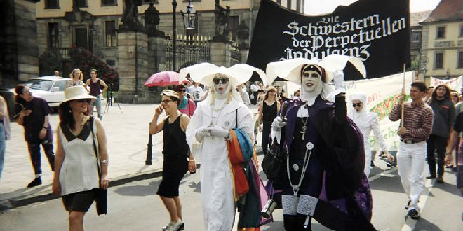 Christopher Street Day parade, Fulda, Germany, 1993 - Sir James